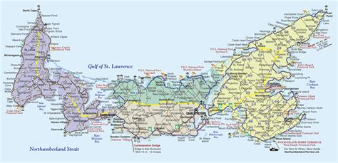 prince edward island map of canada about prince edward island motorcycle tour guide
