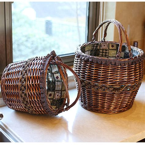 Handmade Laundry Basket - handmade vintage wicker laundry basket home