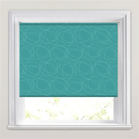 green patterned roller blind retro rich marine blue green swirl patterned roller blinds