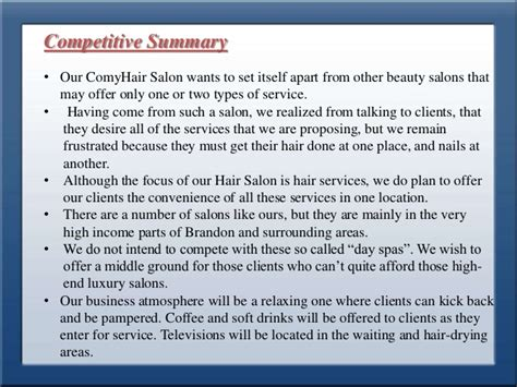 the business plan for your beauty salon business plans business plan for style park hair saloon