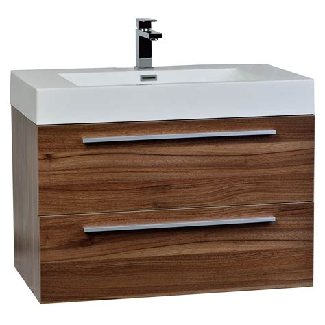 walnut vanity buy 31 5 in wall mount contemporary bathroom vanity set
