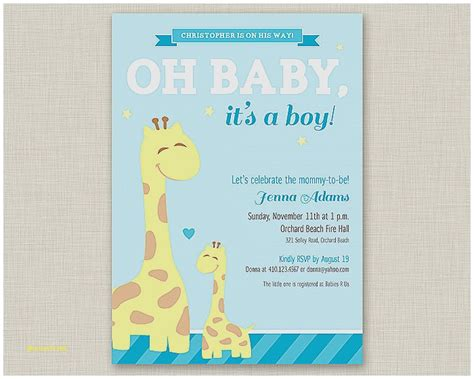 Baby Shower Invitations For Boys Free Templates by Baby Shower Invitation Luxury Free Baby Shower Invitation