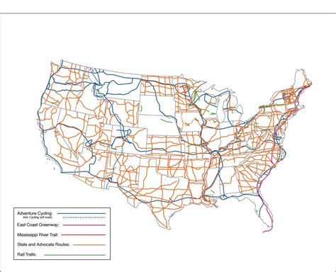 map us highway routes usbrs 101 u s bicycle route system adventure cycling