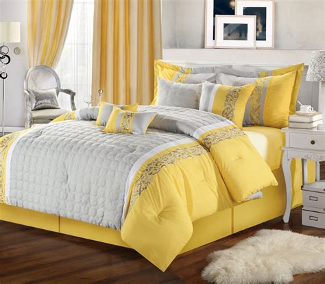 grey and yellow yellow and gray bedroom to get better sleeping quality