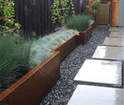 Narrow Trough Planter by Narrow Planter Steppers Gravel Gardening Ideas