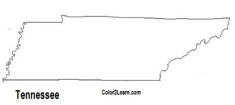 state of tennessee flag and map coloring pages