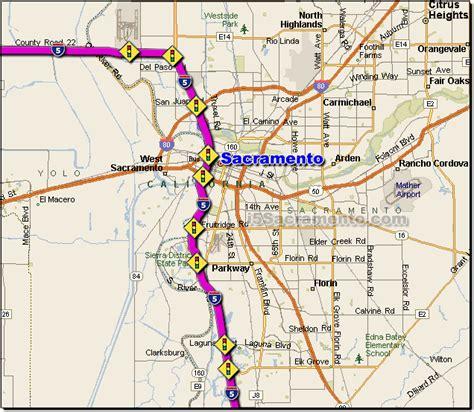 california map i5 i 5 sacramento traffic maps and road conditions