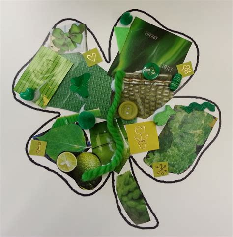 green craft choices for children green shamrock collage