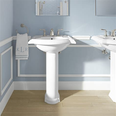 kohler bathroom pedestal sinks kohler devonshire 24 quot pedestal bathroom reviews