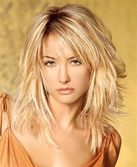 feathered and layered hairstyles on dark brown hair shoulder length layered hairstyles medium length
