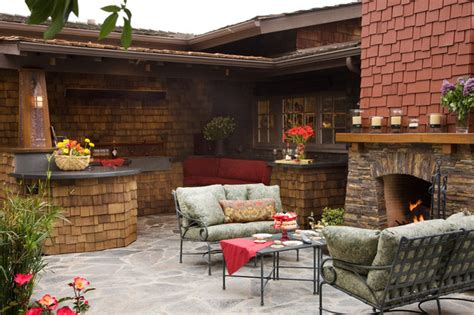 outdoor kitchen and fireplace designs craftsman outdoor kitchen and fireplace traditional