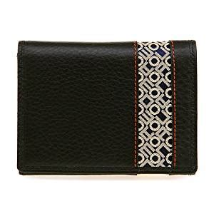 Card Holder Alfabeth Diskon handmade leather woven silk korean alphabet