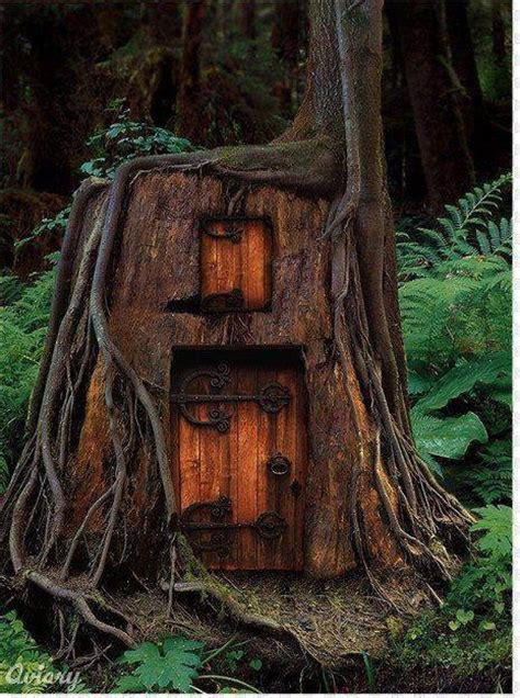 elf house on a tree elf tree house favorite places spaces pinterest