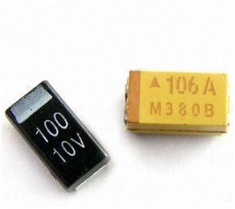 capacitor smd 10uf 35v china smd capacitors avx tajc106m035rnj 10uf 35v 20 2312 china chip tantalum capacitors