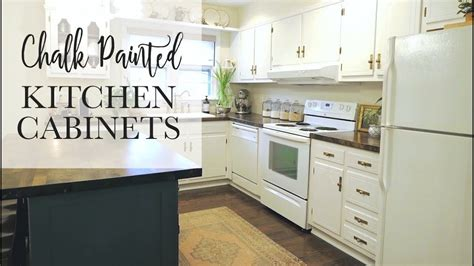 chalk paint kitchen cabinets youtube in exlary chalk our 75 chalk paint cabinet transformation no sanding