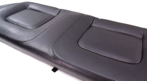 genuine leather chair pads rear black leather seat cushion 98 05 vw beetle genuine