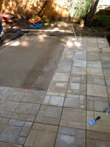 How To Install Pavers For A Patio Diy Paver Patio The Suburban Urbanist