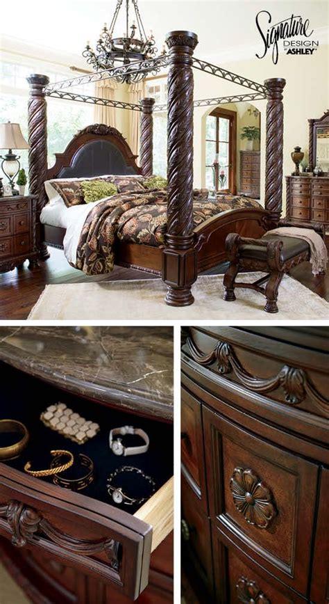 queen bedroom furniture north shore poster bed ashley furniture cozy bedrooms pinterest