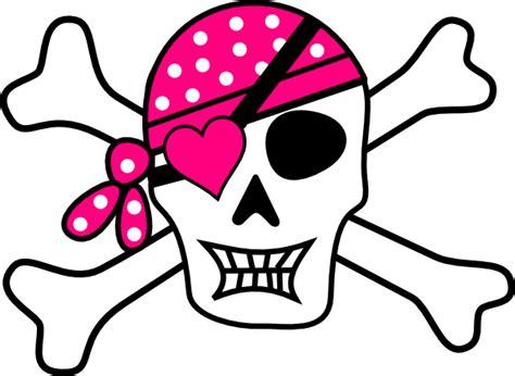 tattoovorlage cartoon pink pirate cross bones clip art at clker com vector