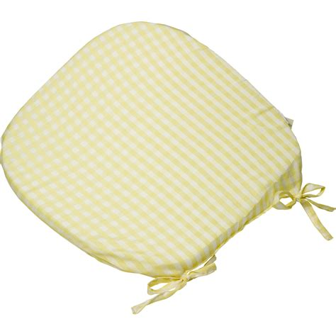 Dining Room Chair Pads With Ties by Gingham Check Tie On Seat Pad 40 6cm X Kitchen Outdoor
