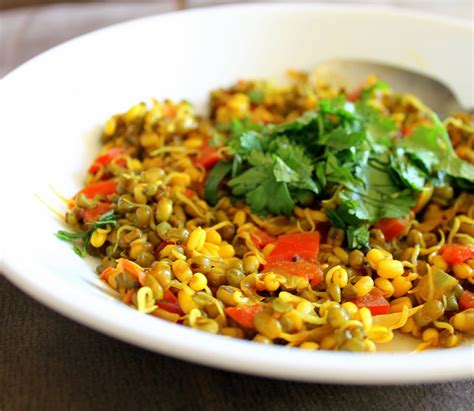 mung bean sprouts sauteed  spices vegan glutenfree