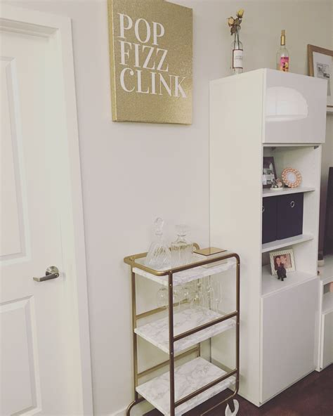 sunnersta ikea hack gold bar cart made from ikea sunnersta apartment decor