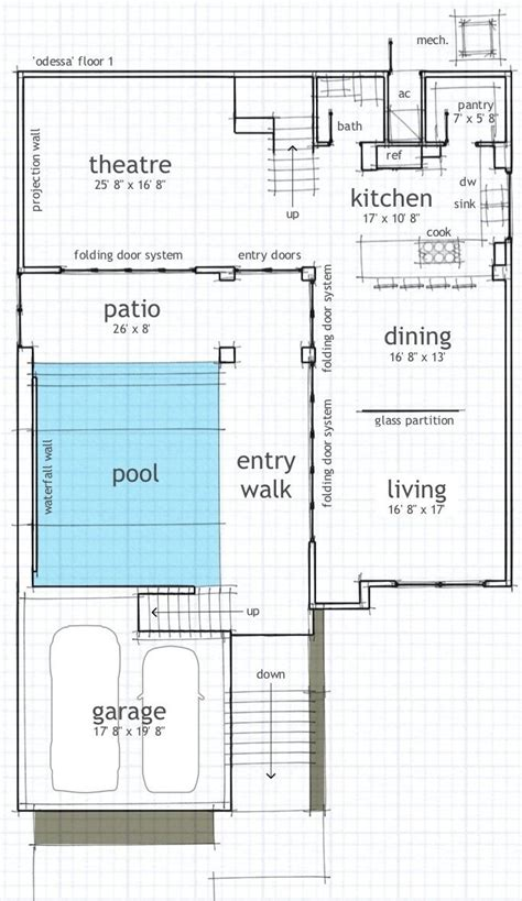 Home Plans With Indoor Pool by Single Floor House Plans With Indoor Pool House Plans