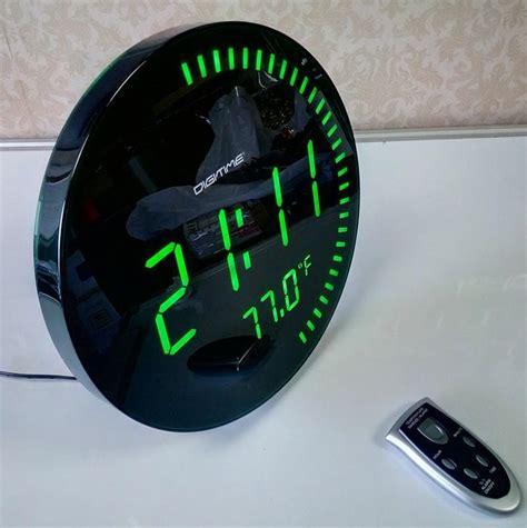 decorative digital wall clock 3d creative circular large led digital wall clock modern