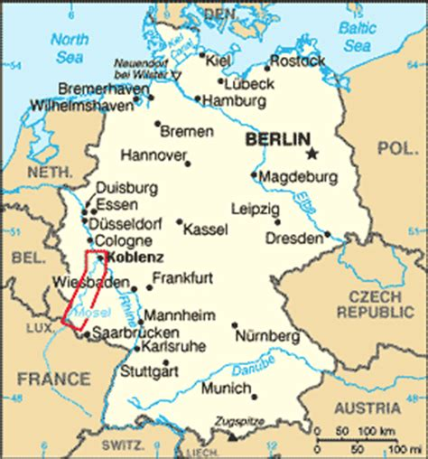 germany map mosel