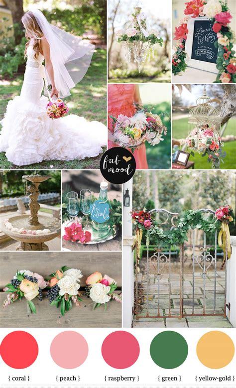 garden wedding ideas coral and raspberry wedding