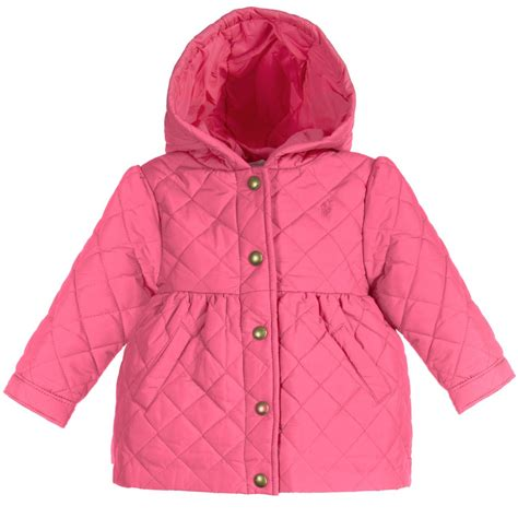 Baby Quilted Coat by Ralph Baby Pink Quilted Coat Childrensalon