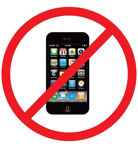 no mobile phone symbol clipart cliparts and others art