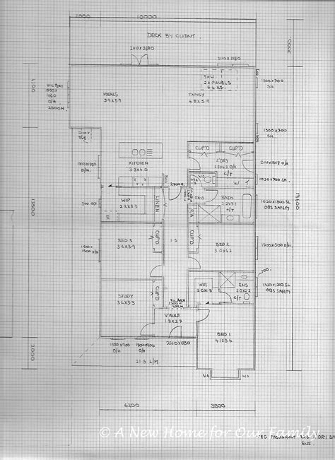 floor plan our new home