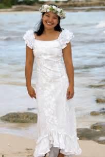 hawaiian wedding dresses ruffle shoulder hawaiian wedding muumuu holoku