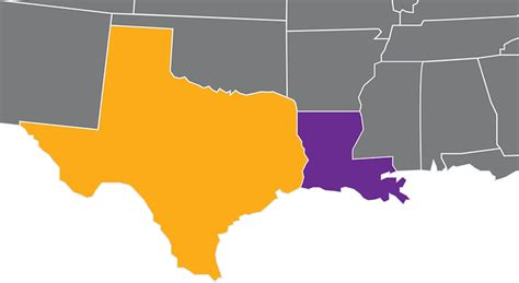 louisiana and texas map texas and louisiana map map
