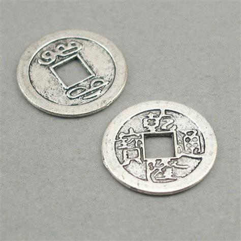 ancient chinese charms and coins ancient chinese lucky coin charms antique silver 4pcs base