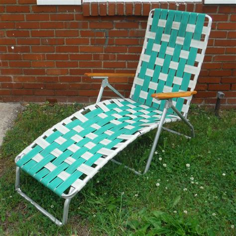 chaise lawn chair vintage webbed chaise lawn chair haute juice
