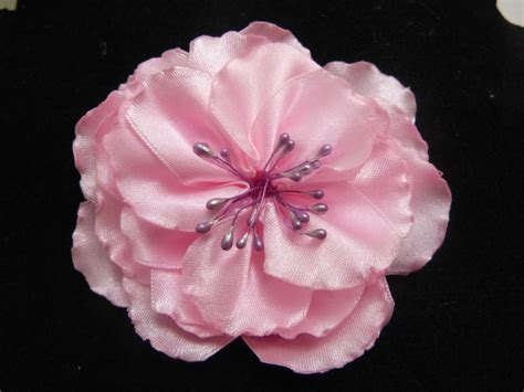 tutorial flor de organza tutorial flores grande s para el cabello en citas de raso