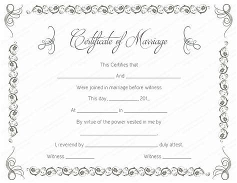 wedding certificate templates simple as gray marriage certificate template
