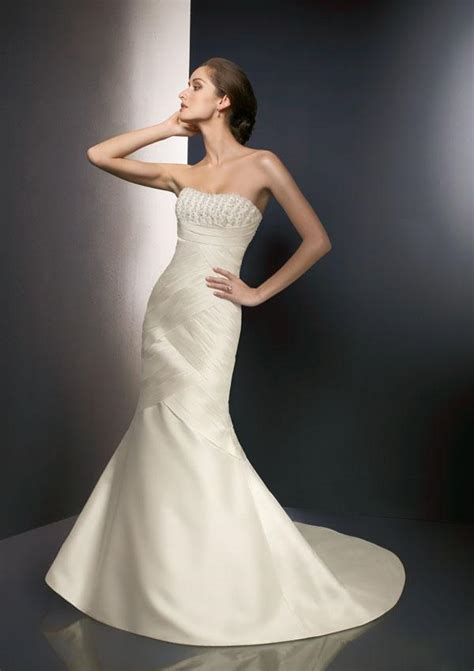 strapless mermaid wedding dresses for sophisticated and