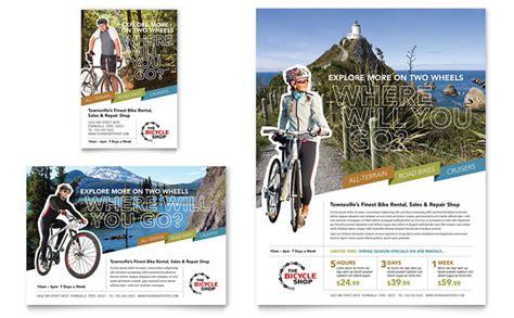 Bike Rentals Mountain Biking Flyer Ad Template Design Bike Flyer Template Free
