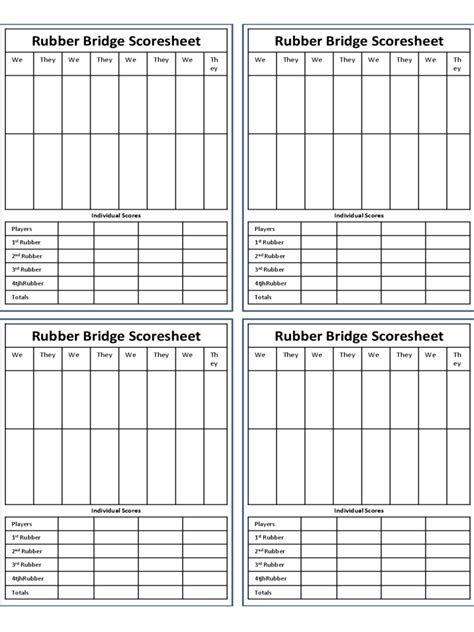 bridge score card template bridge score sheet 6 free templates in pdf word excel