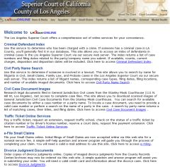 Los Angeles Superior Court Name Search Los Angeles County Court Search County Search County Search