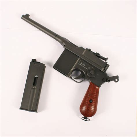 libro the broomhandle mauser weapon co2 kwc m712 broom handle mauser co2 airsoft pistol