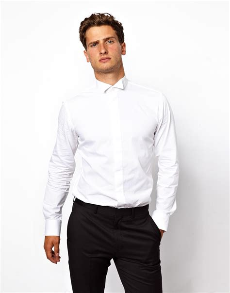 black and white shirt to wear with pants lyst french connection dress shirt in white for men