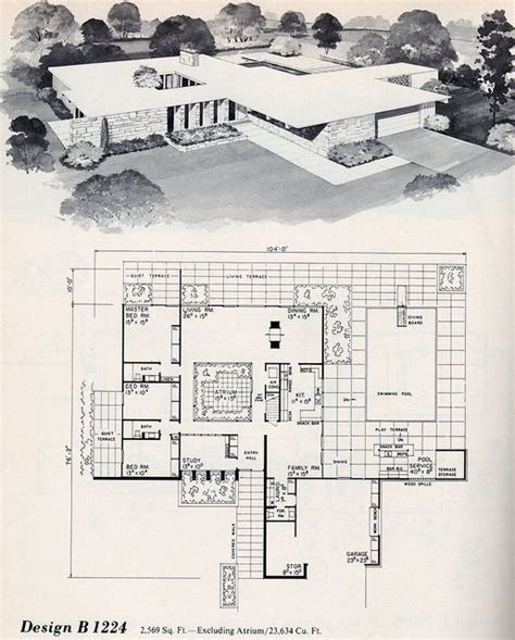 modern architecture floor plans 112 best images about my 60 s house on mid
