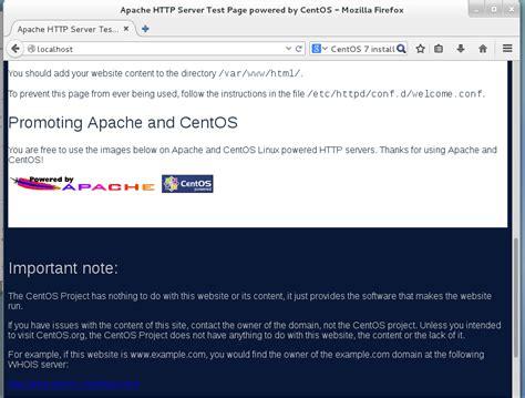 tutorial apache web server linux installing apache web server on centos partnersmemo