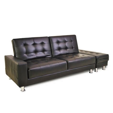 guest bed ottoman foxhunter pu sofa bed with storage 3 seater guest sleeper