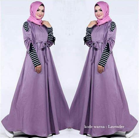 gamis terbaru  diandra lavender model baju gamis terbaru