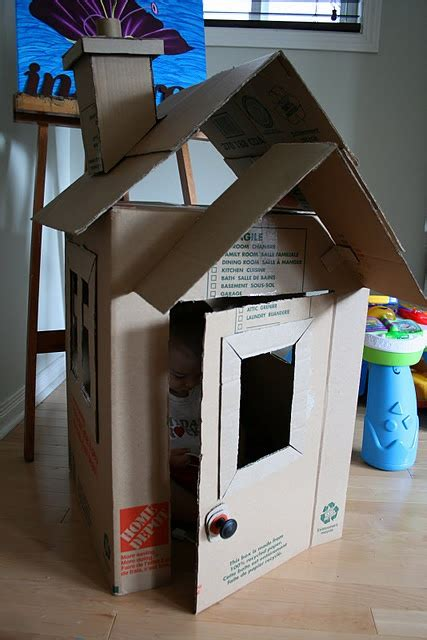 cardboard box house cardboard box house fun for kids pinterest
